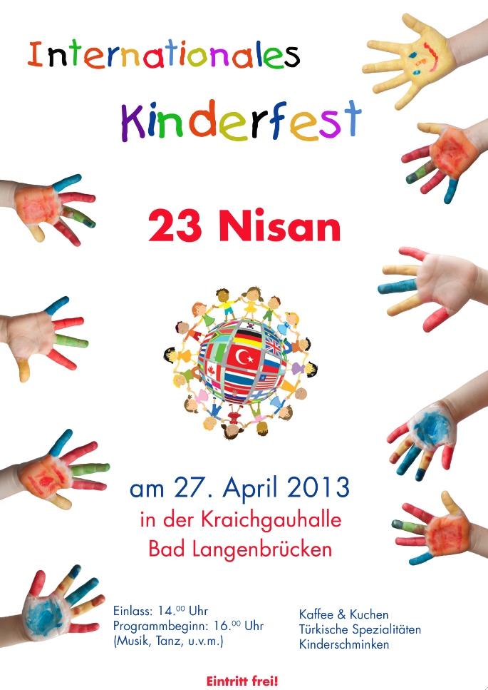 am samstagnachmittag: internationales kinderfest – 23 nisan feiern, Einladungen