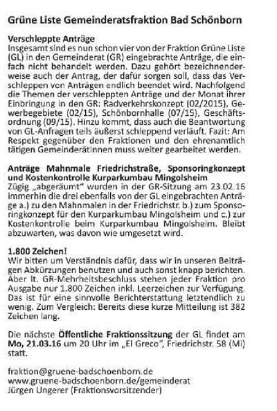 Beitrag in der Ausgabe 11 vom 17.03.16 des Mitteilungsblattes