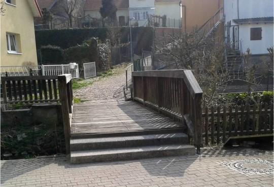 Auch die Brücke im Bereich Insel/Glöckelsberg soll bis Ende September des Jahres erneuert werden.