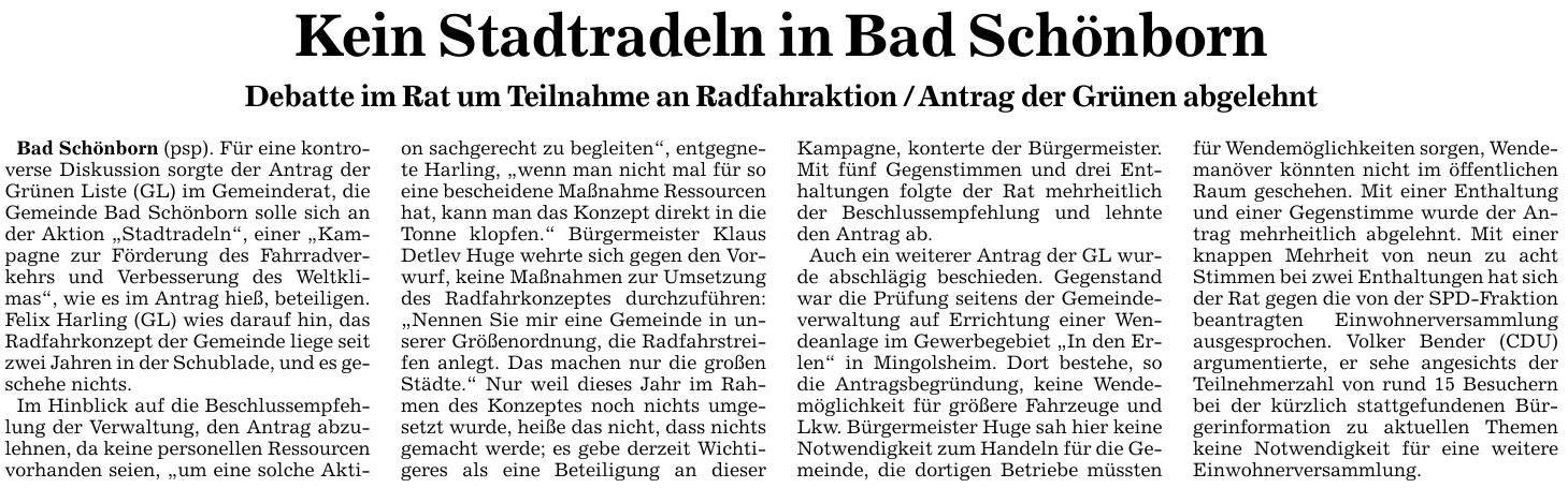Beitrag der BNN - Badische Neuesten Nachrichten vom 30.06.16 - Veröffentlichung mit freundlicher Genehmigung der BNN